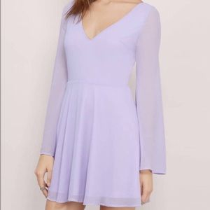 TOBI TUSCANY FIT AND FLARE DRESS IN LAVENDER
